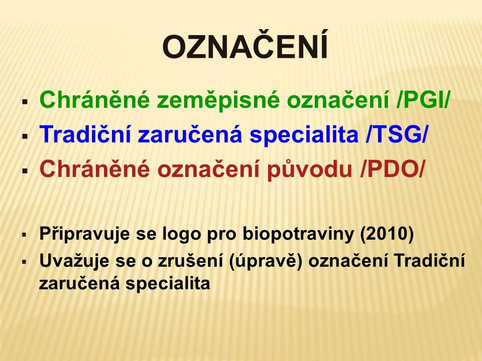 OZNAČENÍ Chráněné zeměpisné označení /PGI/