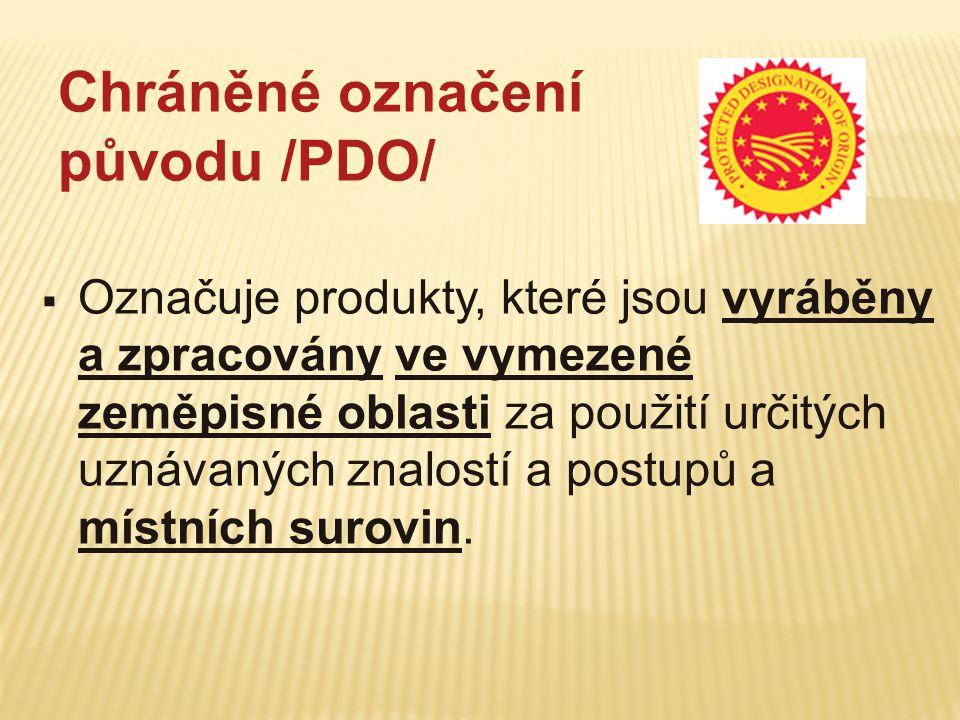 Chráněné označení původu /PDO/