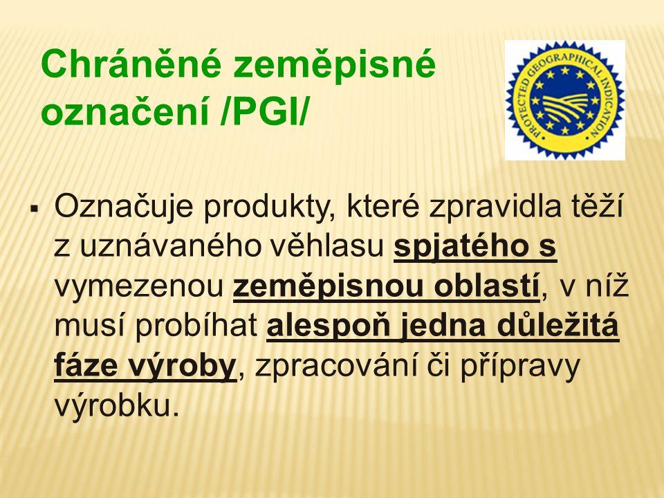 Chráněné zeměpisné označení /PGI/