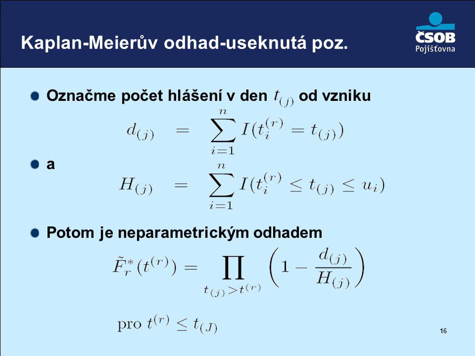 Kaplan-Meierův odhad-useknutá poz.