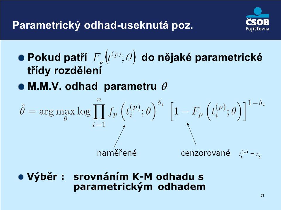 Parametrický odhad-useknutá poz.