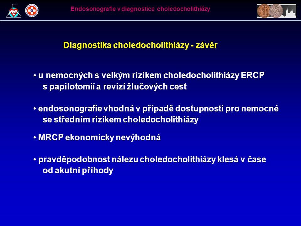 Diagnostika choledocholithiázy - závěr