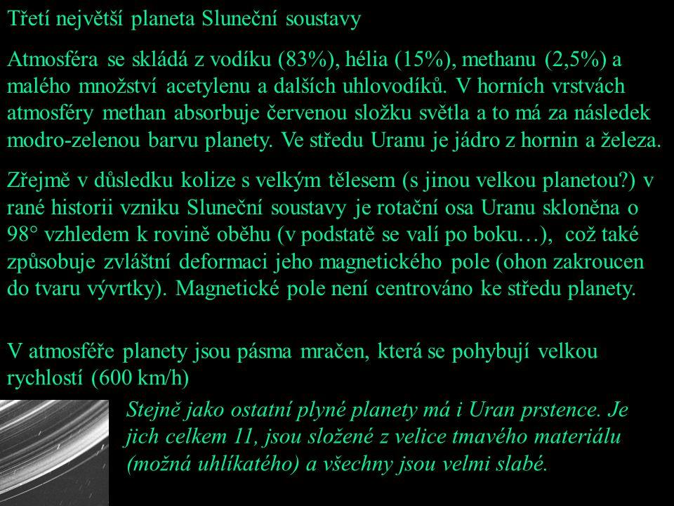 Třetí největší planeta Sluneční soustavy