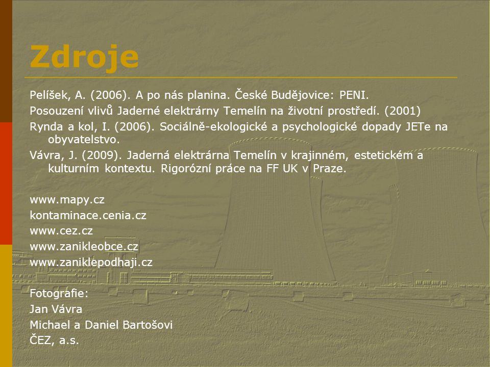 Zdroje Pelíšek, A. (2006). A po nás planina. České Budějovice: PENI.