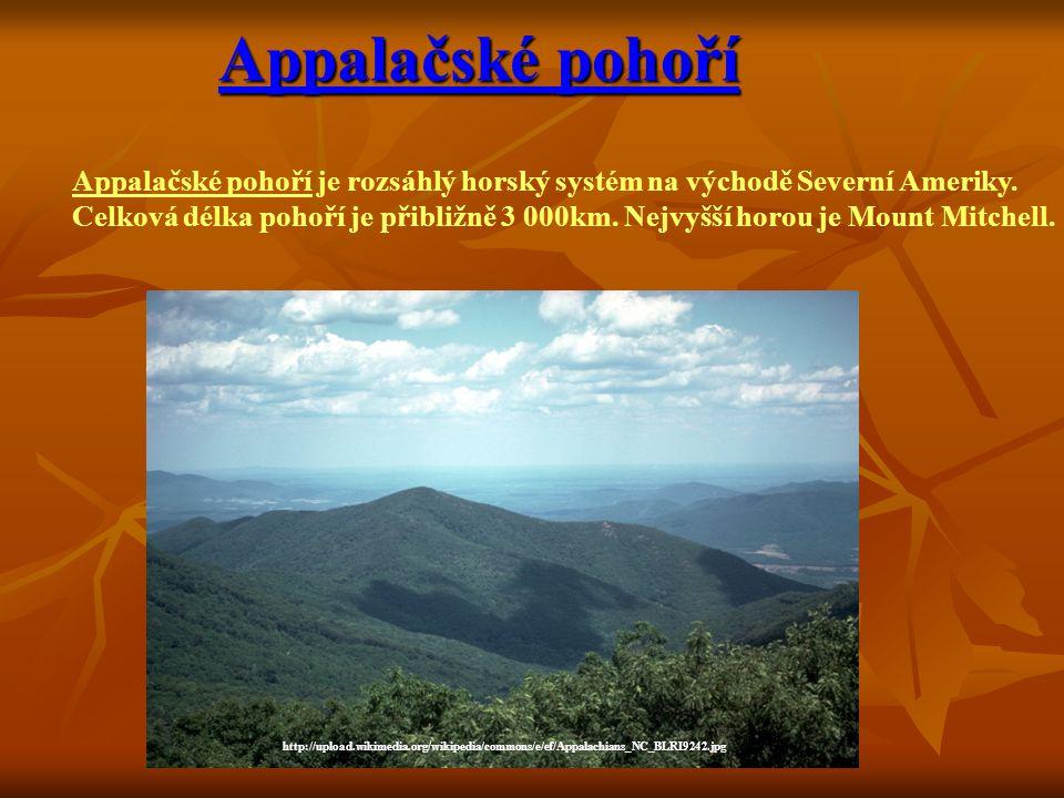 Appalačské pohoří Appalačské pohoří je rozsáhlý horský systém na východě Severní Ameriky.