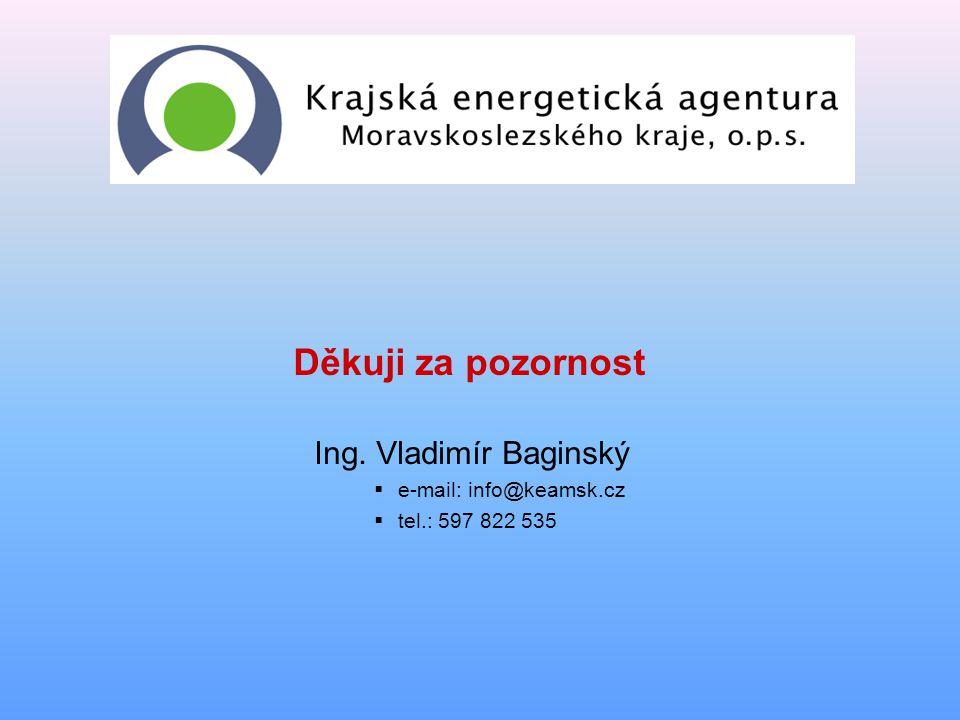 Děkuji za pozornost Ing. Vladimír Baginský e-mail: info@keamsk.cz