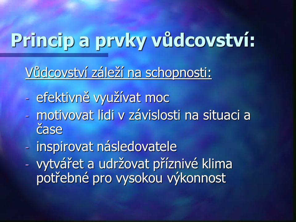 Princip a prvky vůdcovství: