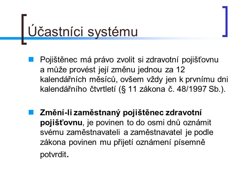 Účastníci systému