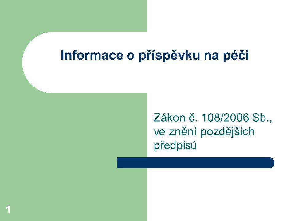 Informace o příspěvku na péči