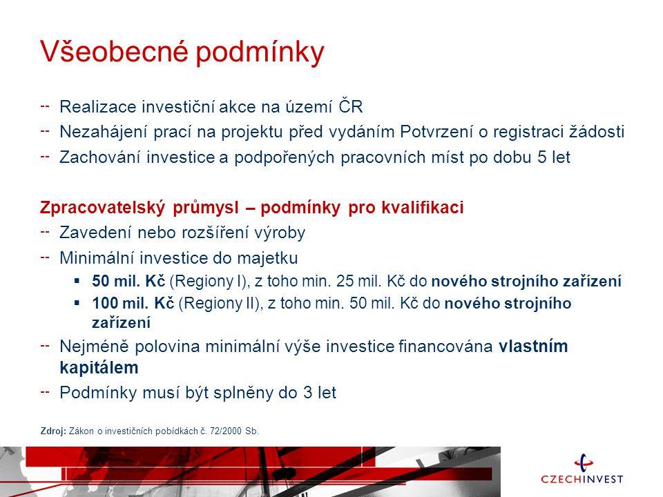 Všeobecné podmínky Realizace investiční akce na území ČR