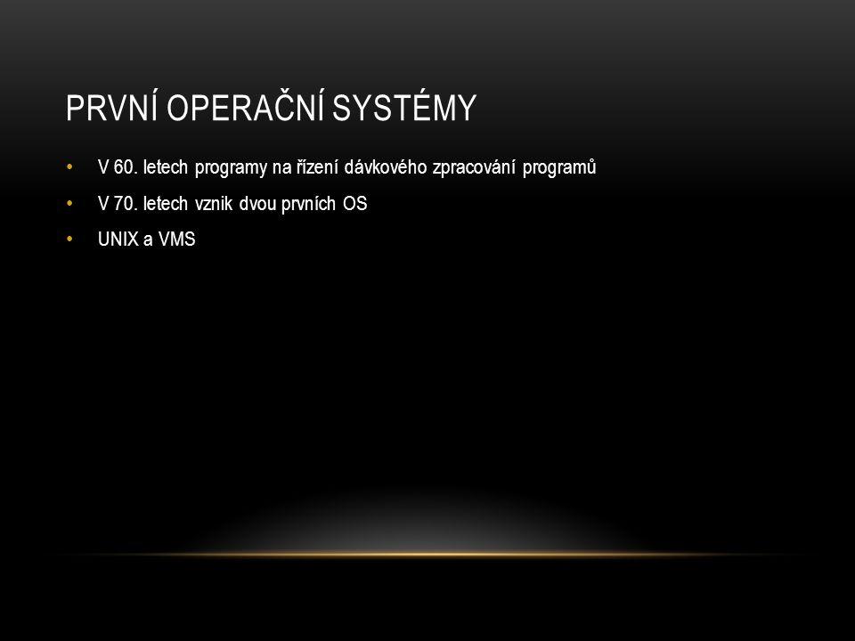 První operační systémy