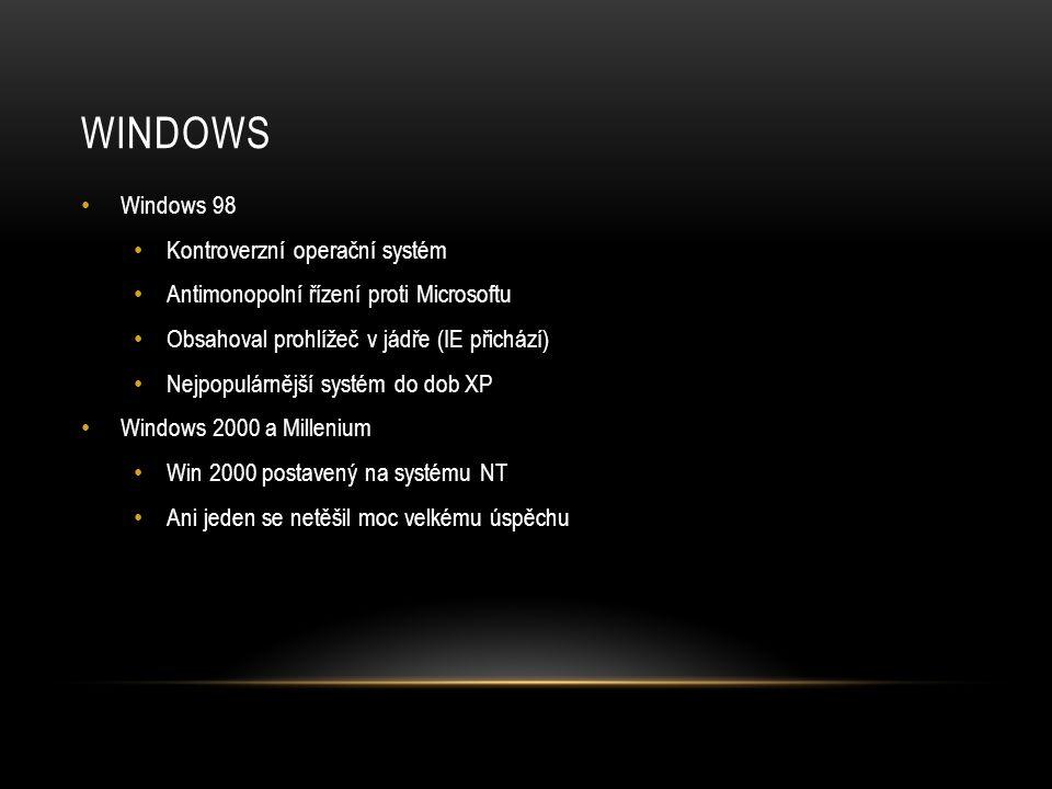 Windows Windows 98 Kontroverzní operační systém