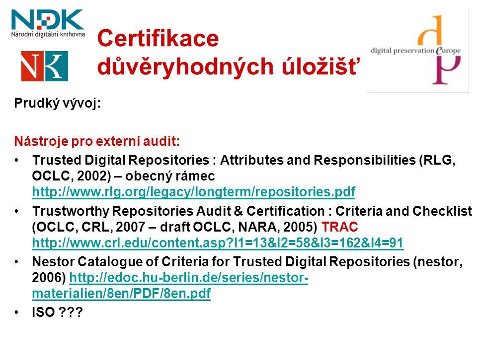 Certifikace důvěryhodných úložišť