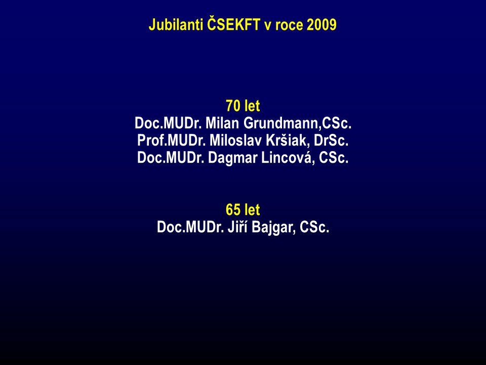 Jubilanti ČSEKFT v roce 2009