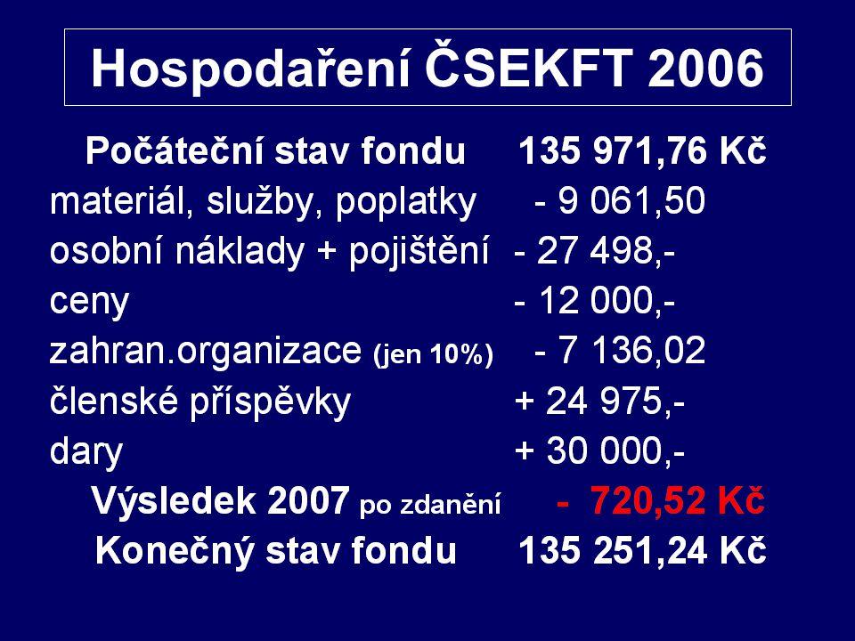 Hospodaření ČSEKFT 2006