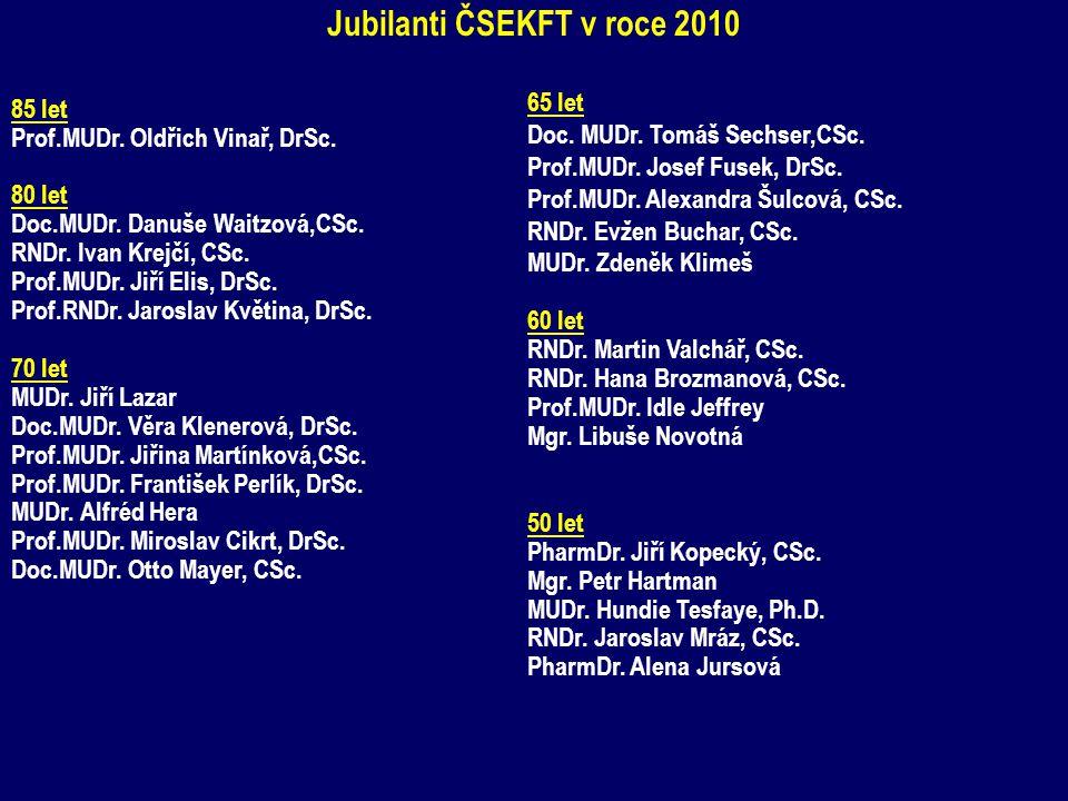 Jubilanti ČSEKFT v roce 2010