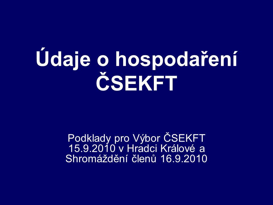 Údaje o hospodaření ČSEKFT