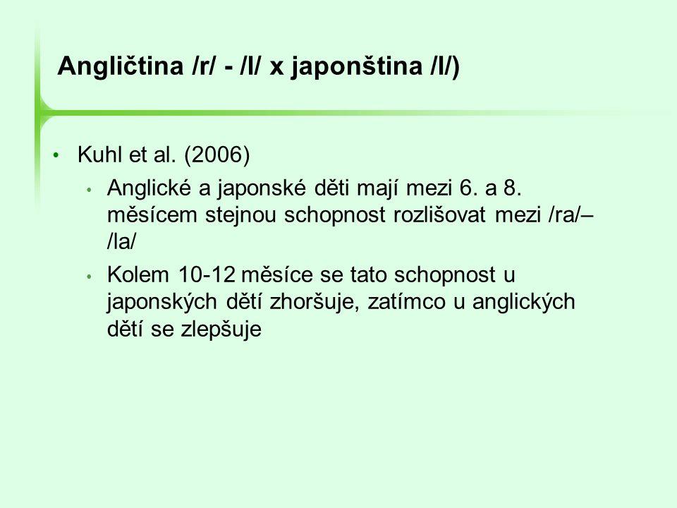 Angličtina /r/ - /l/ x japonština /l/)