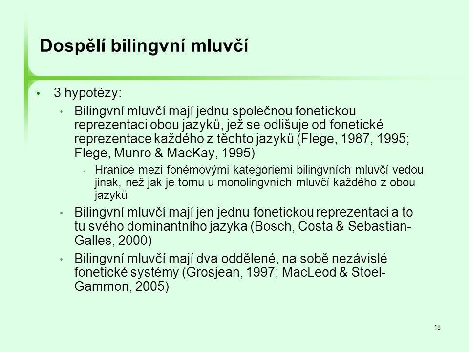 Dospělí bilingvní mluvčí