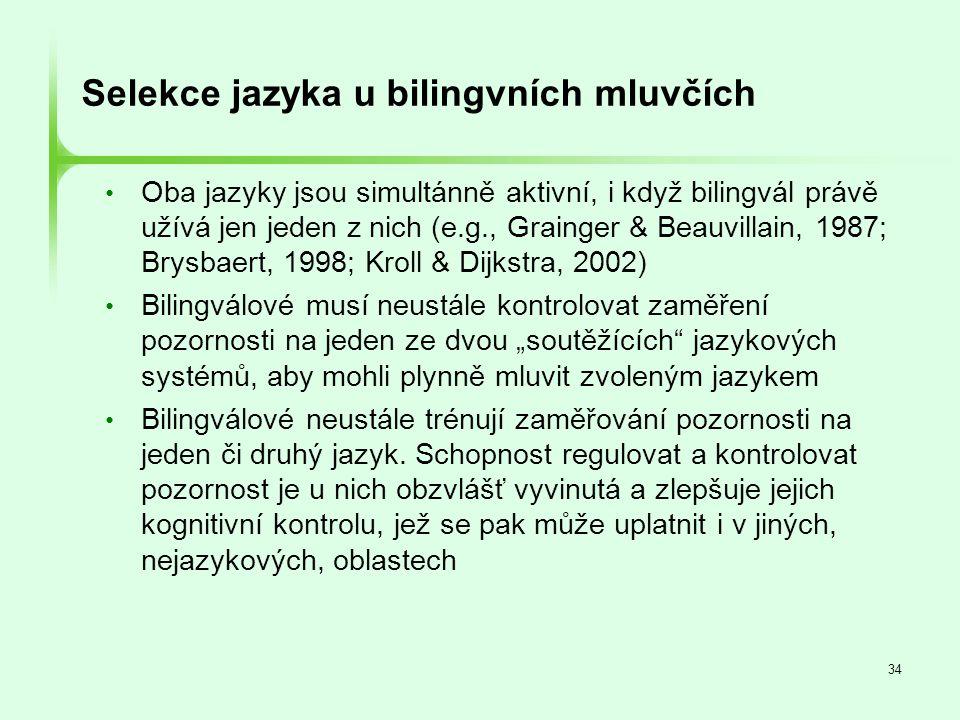 Selekce jazyka u bilingvních mluvčích