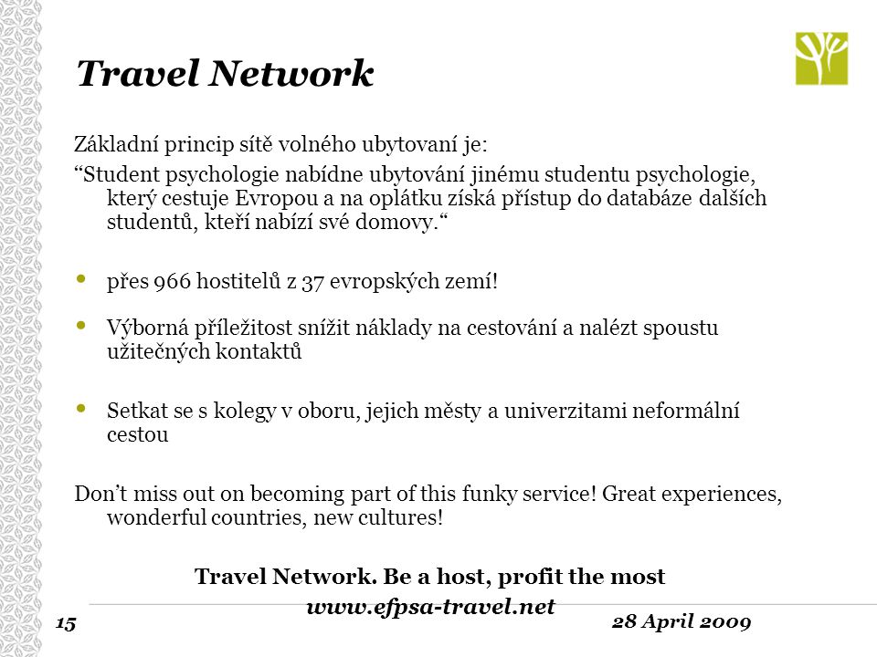 Travel Network. Be a host, profit the most