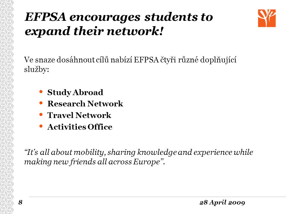 EFPSA encourages students to expand their network!
