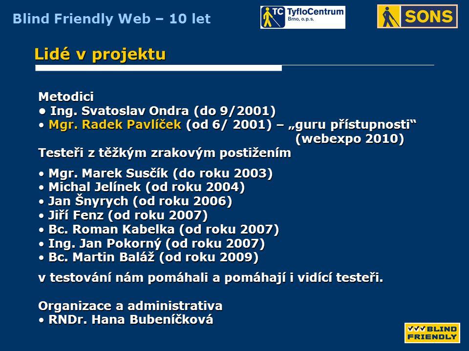 Lidé v projektu Metodici • Ing. Svatoslav Ondra (do 9/2001)