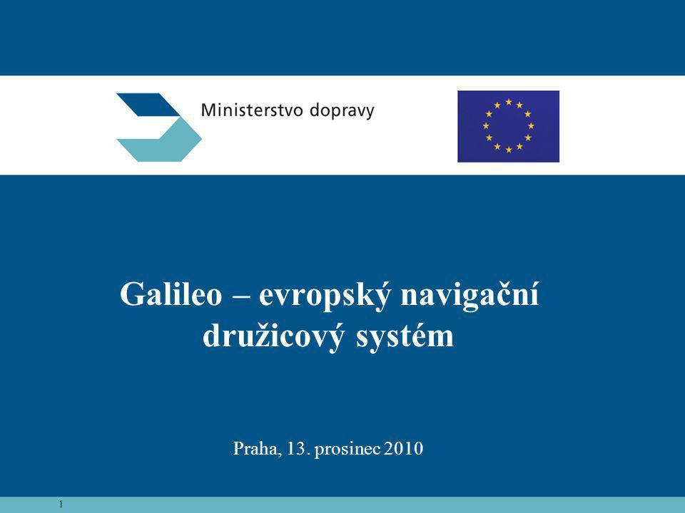 Galileo – evropský navigační družicový systém Praha, 13. prosinec 2010