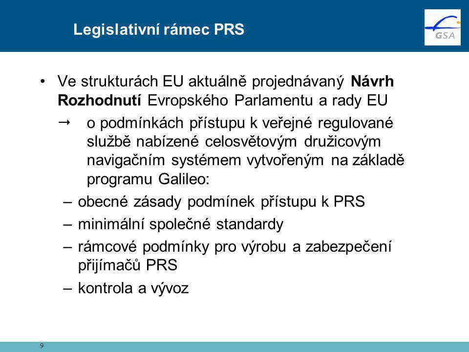 Legislativní rámec PRS
