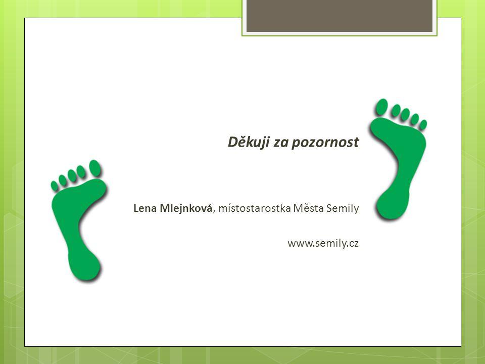 Děkuji za pozornost Lena Mlejnková, místostarostka Města Semily