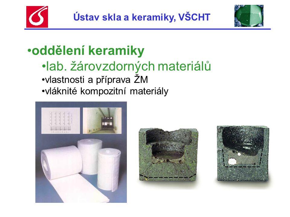 Ústav skla a keramiky, VŠCHT
