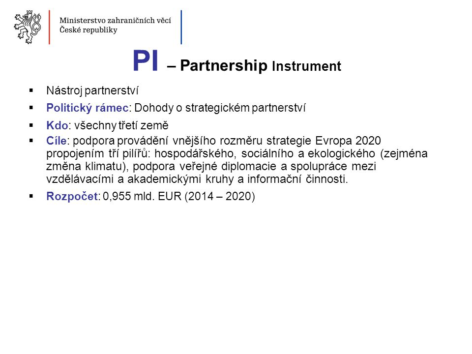 PI – Partnership Instrument