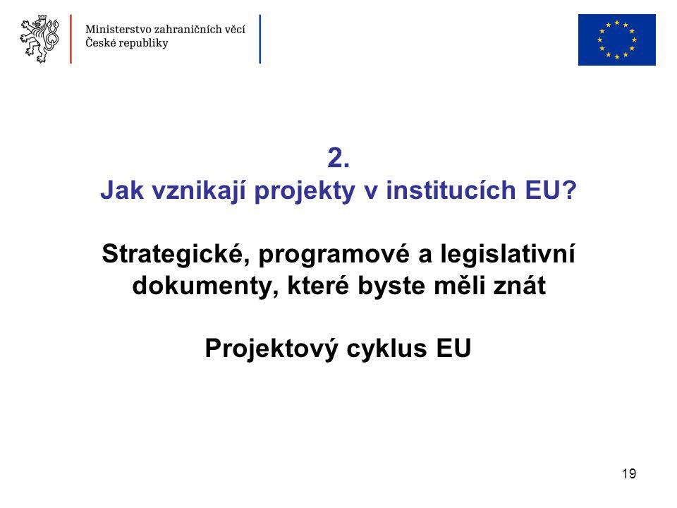 2. Jak vznikají projekty v institucích EU