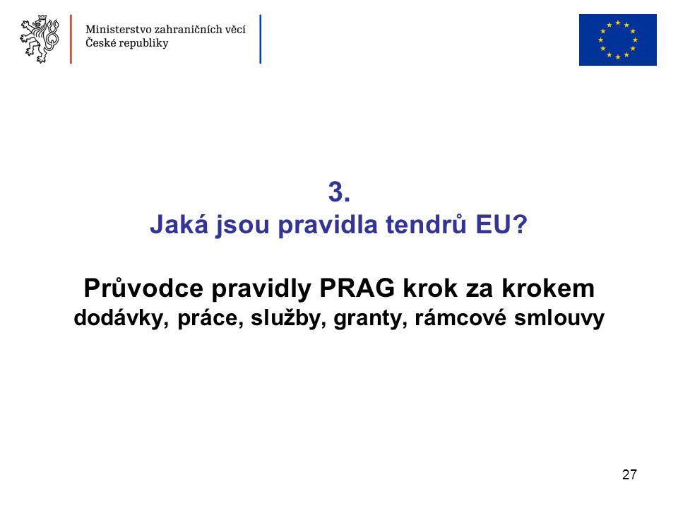 3. Jaká jsou pravidla tendrů EU