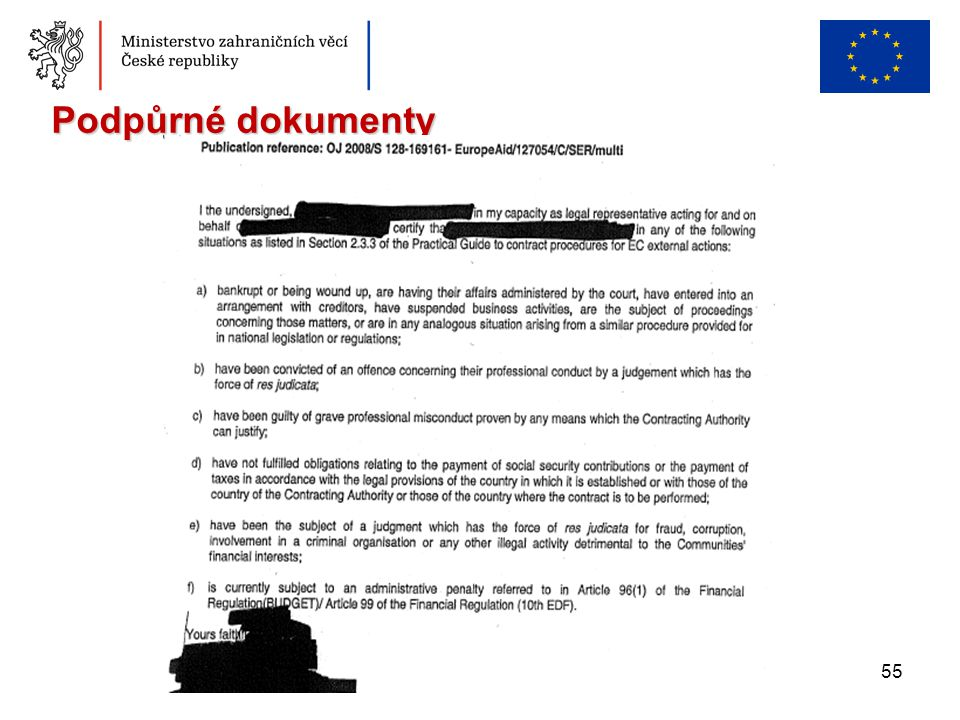 Podpůrné dokumenty