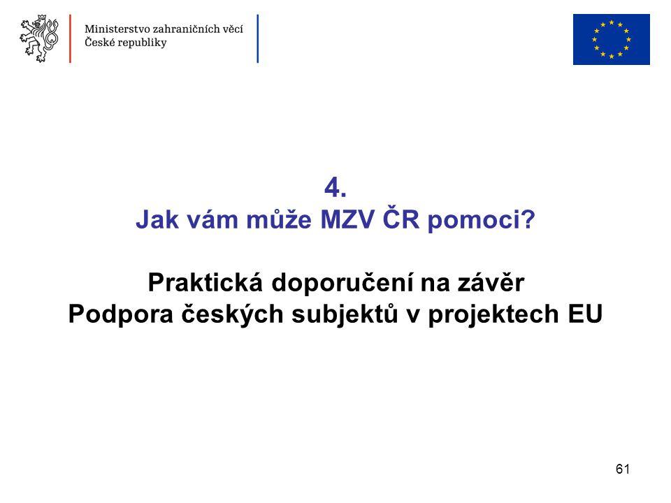 4. Jak vám může MZV ČR pomoci