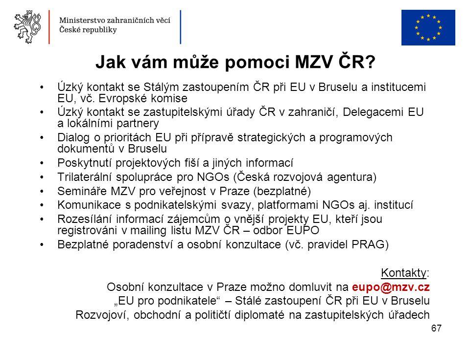 Jak vám může pomoci MZV ČR