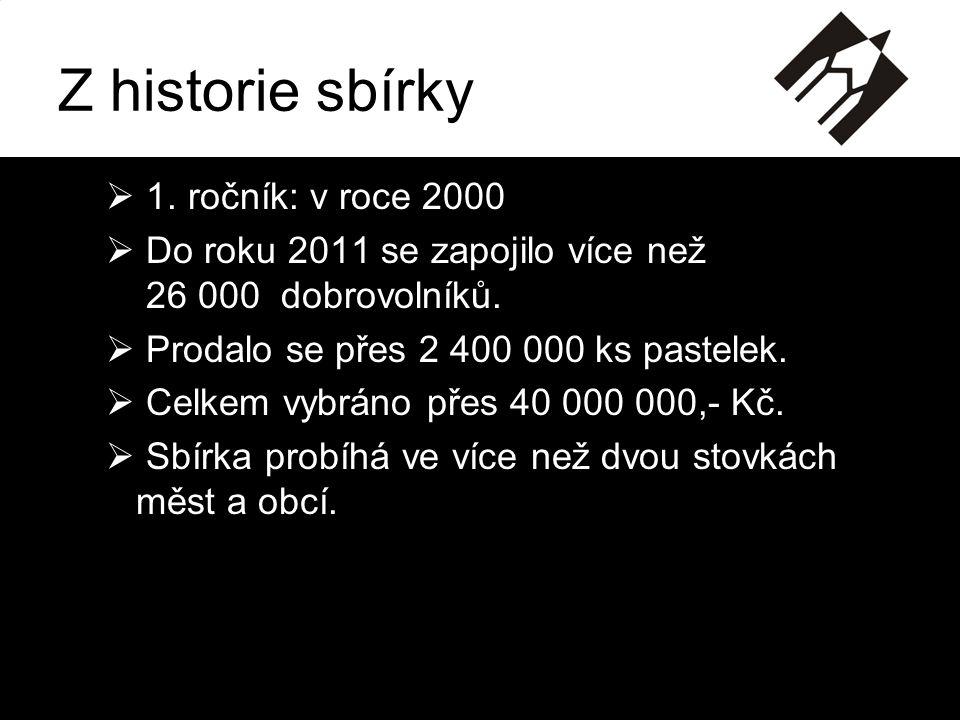 Z historie sbírky 1. ročník: v roce 2000