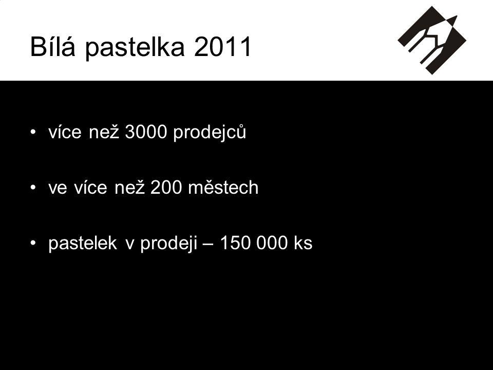 Bílá pastelka 2011 více než 3000 prodejců ve více než 200 městech