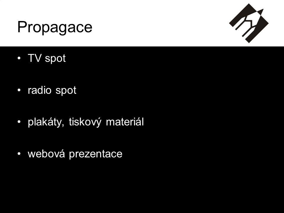 Propagace TV spot radio spot plakáty, tiskový materiál