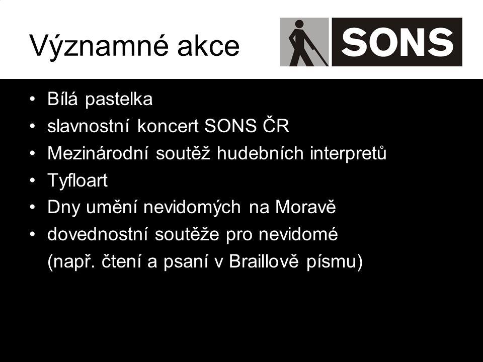 Významné akce Bílá pastelka slavnostní koncert SONS ČR