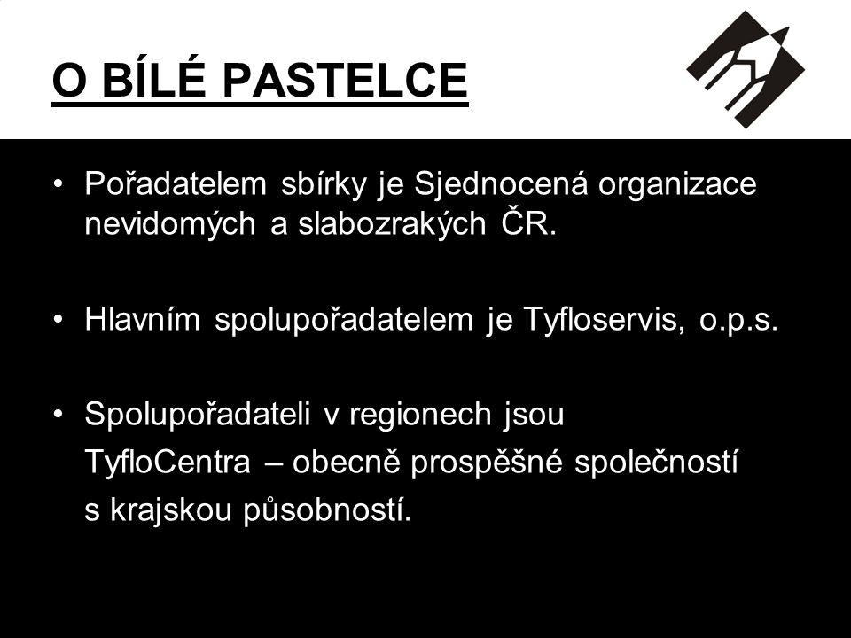 O BÍLÉ PASTELCE Pořadatelem sbírky je Sjednocená organizace nevidomých a slabozrakých ČR. Hlavním spolupořadatelem je Tyfloservis, o.p.s.