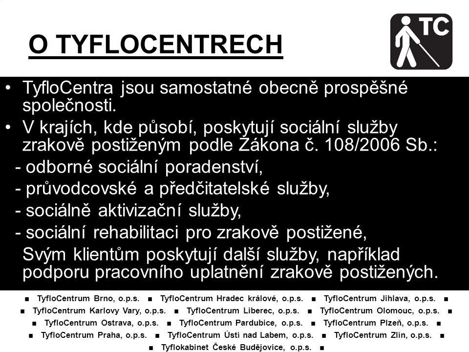 ■ Tyflokabinet České Budějovice, o.p.s. ■
