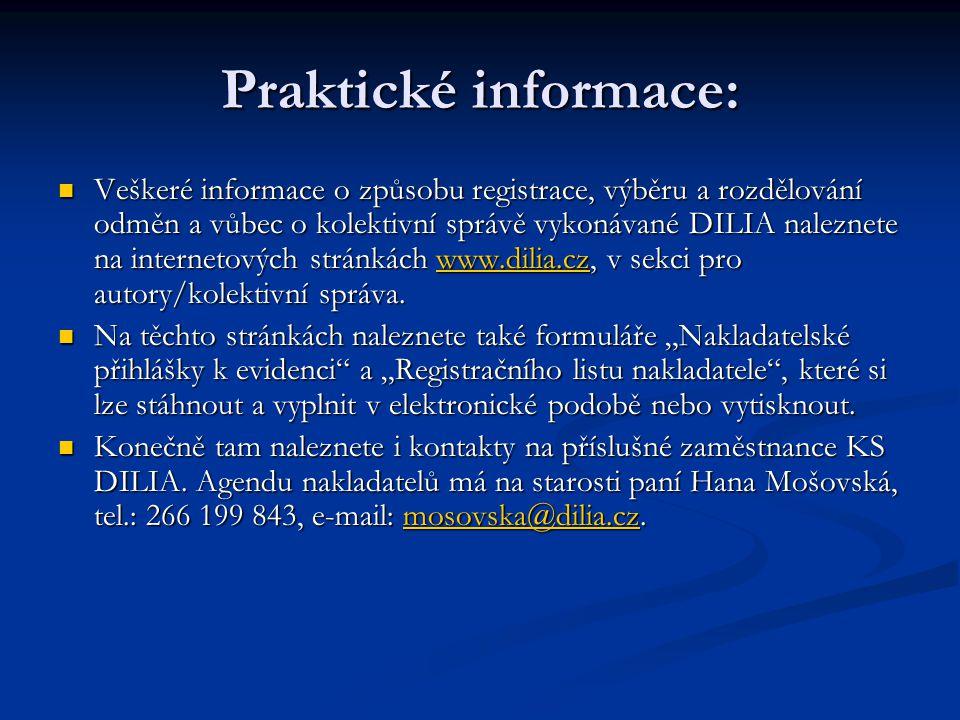 Praktické informace: