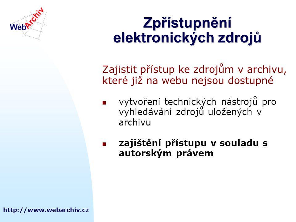 Zpřístupnění elektronických zdrojů