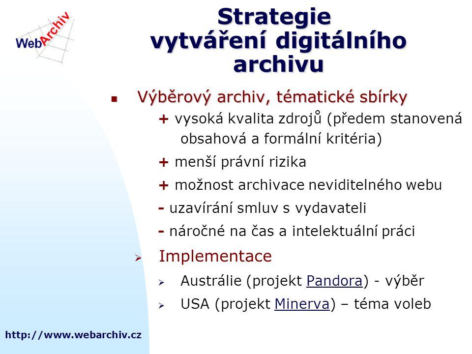 Strategie vytváření digitálního archivu
