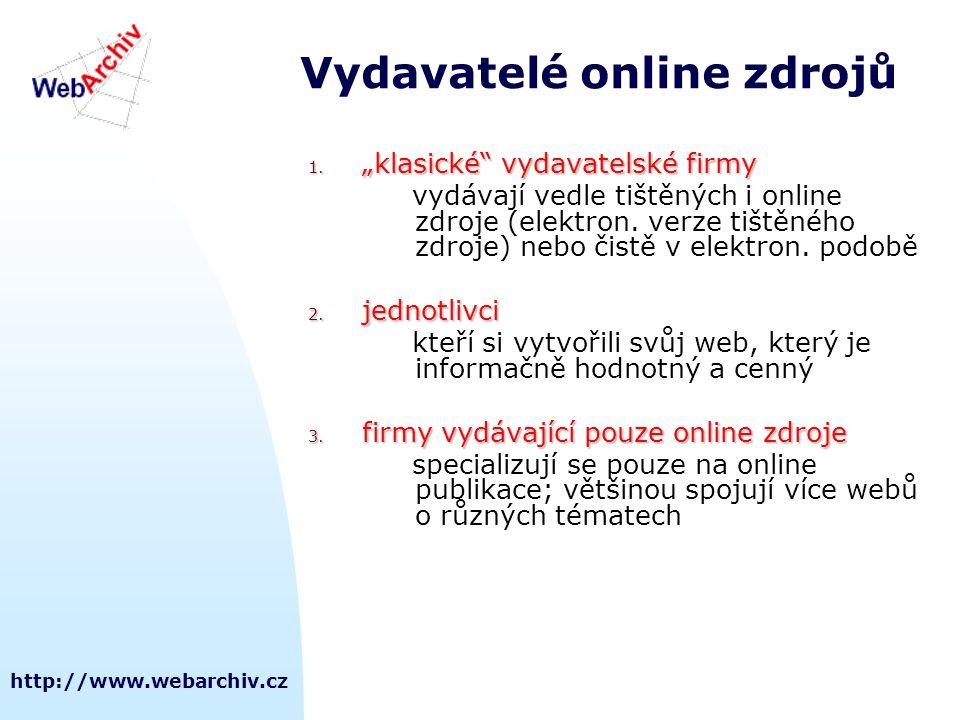 Vydavatelé online zdrojů