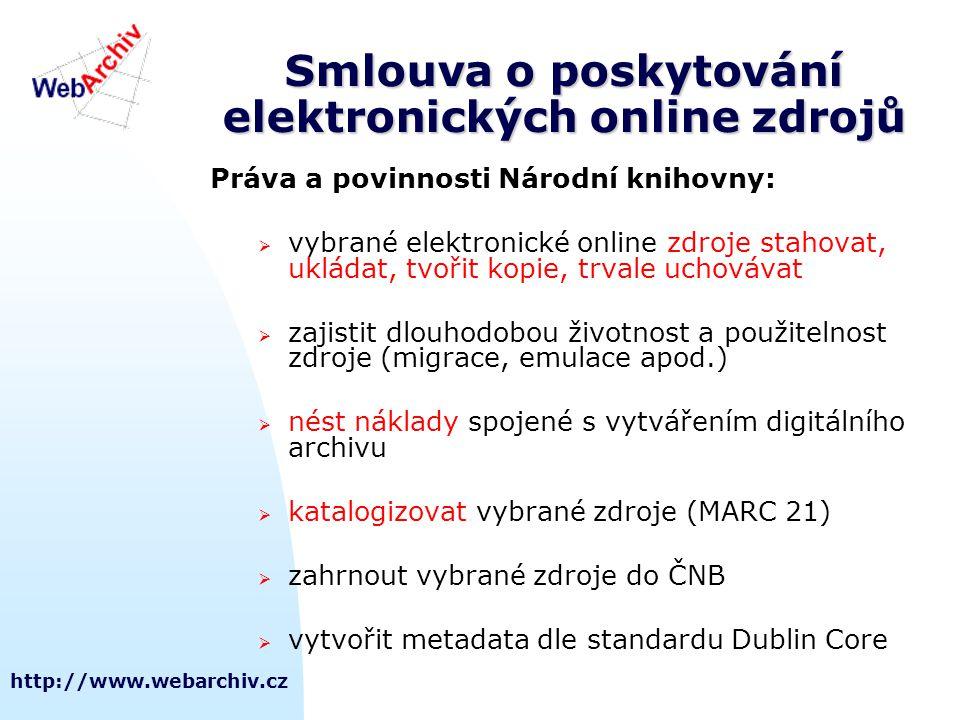 Smlouva o poskytování elektronických online zdrojů