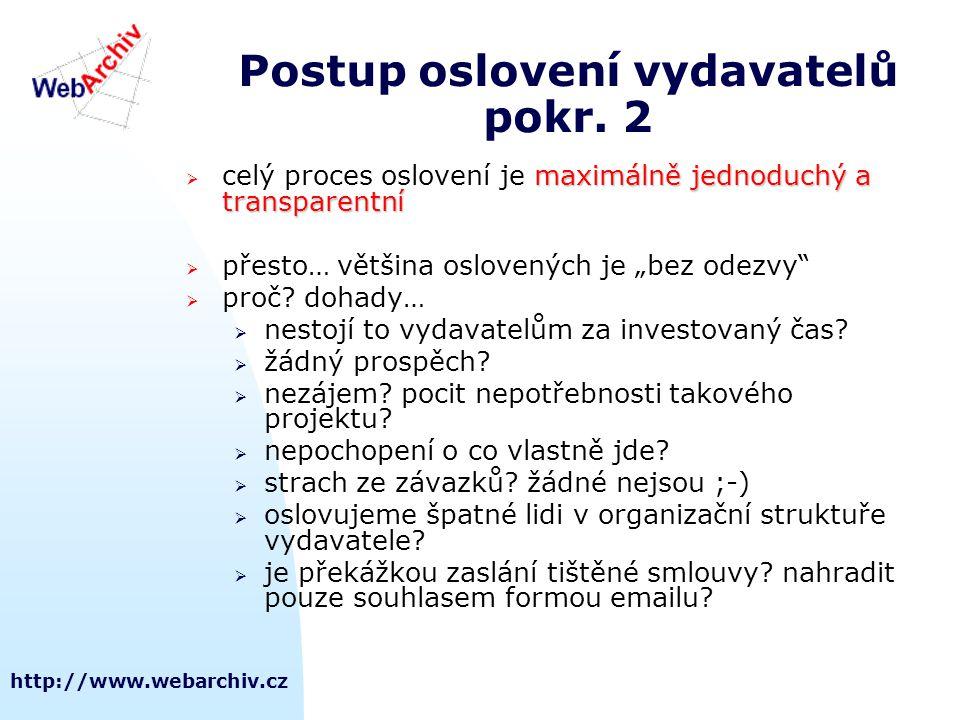 Postup oslovení vydavatelů pokr. 2