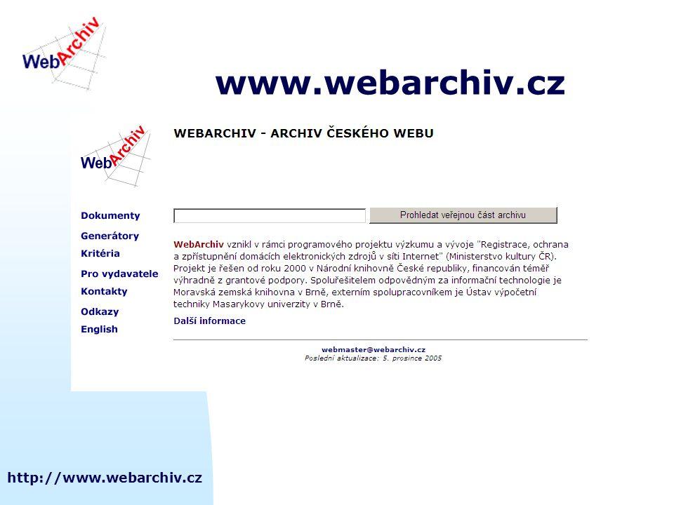 www.webarchiv.cz http://www.webarchiv.cz